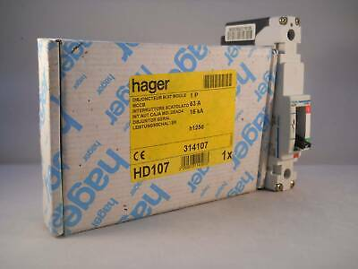 Hager MCCB 63 Amp Single Pole 63A Circuit Breaker H125D HD107 NEW