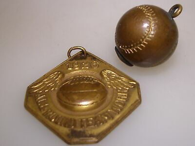 Rare Antique Dated 1926 Ssaa Basketball Champs Teamwork Brass Medal & Charm!