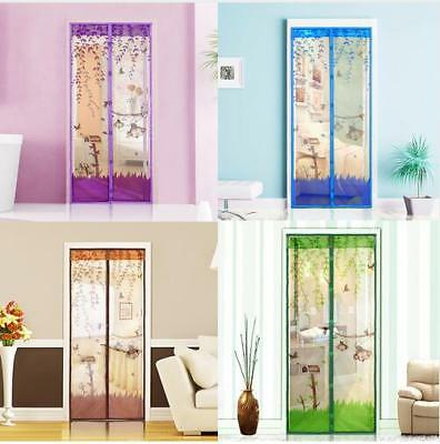 Summer Door Mesh Screen Net Anti-Insect Mosquito Fly Bug Magnetic Closer Curtain