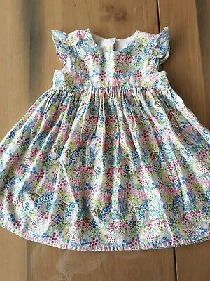 Mothercare Girls vintage Floral ditsy print Summer Cotton Dress Age 2-3 Yrs VGC