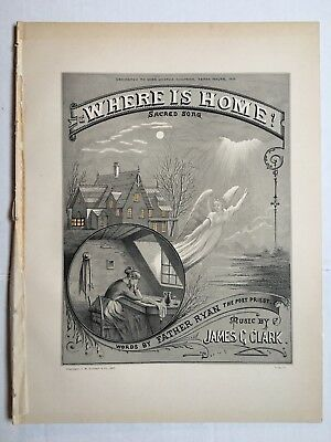 "Stoddart's Choice Music For Piano Or Organ ""Where Is Home?"" Sacred Song 1877"