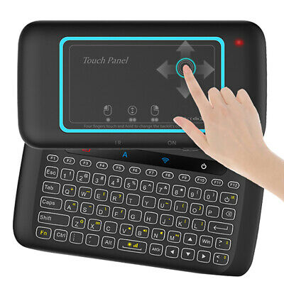 Ne_ H20 Universal Mini Backlight Touchpad Keyboard Wireless Air Mouse Controll