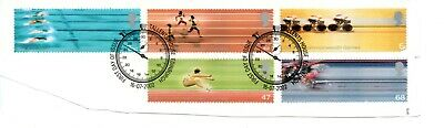 GB  QEII 2002 17th Commonwealth Games SG 2299 - 2303  VFU ON PAPER