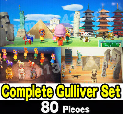 Animal Crossing New Horizons Gulliver Set All Furniture ALL COLOR 80 PCS