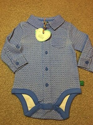 Little Bird By Jools Oliver Geo Print Baby Bodysuit 3-6 Months Retro Shirt
