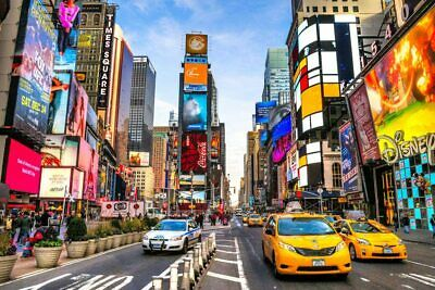 Jigsaw Puzzles 1000X New York Times Square for Adult Kids Puzzle Home Decor EL