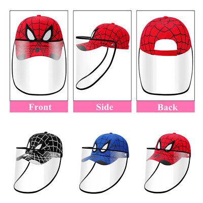 Safety Full Protective Baseball Cap Detachable Anti Spitting Splash Kids Adults