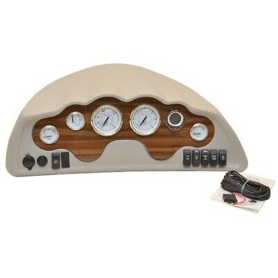 Glastron Boat Gauge Dash Panel 025-4538   Mercury Outboard Taupe