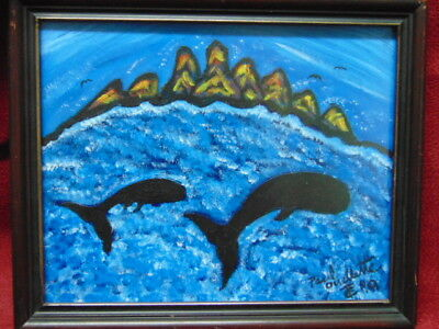 Folk Art Painting by New Brunswick Folk Artist Paul Ouellette