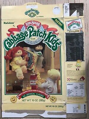 1985 Cabbage Patch Kids Cereal Box complete Ralston
