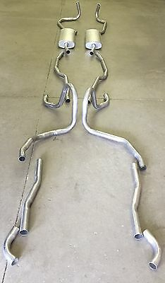 1958 Cadillac Dual Exhaust System, Aluminized, Without Resonators
