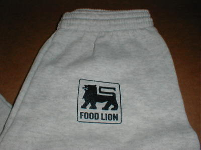 Food Lion Store NOS vtg New adult Sm-Med Exercise jogging sweat pants gray rare