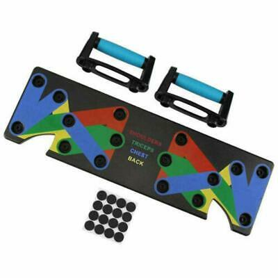 1 Set Push Up Rack Board 9 in 1 Body Building Board System Fitness Comprehensive