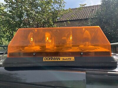 Dorman Barlite Magnetic Or Bolted Through Rotating Amber Beacon Recovery Light