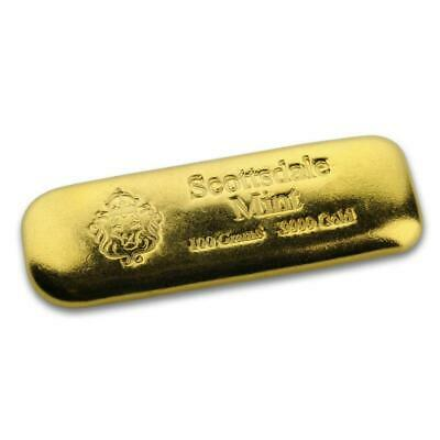 SPECIAL PRICE! Scottsdale Mint 100 gram .9999 Gold Bar - 3.2150 oz Gold #A497