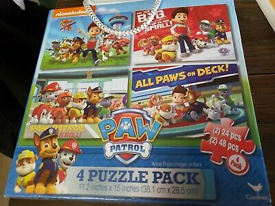 Nickelodeon Paw Patrol 4 Puzzle Pack 2 Of 24 And 2 Of 48 Pieces Each