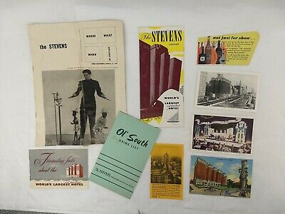 Vintage THE STEVENS - HILTON HOTEL Chicago Ephemera Collector's Lot