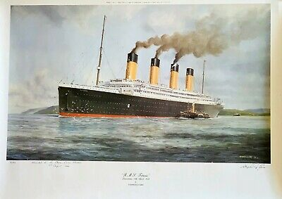 Special Stephen Card TITANIC Print #2 of 20, Signed for NY Ocean Liner Museum