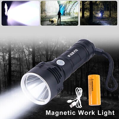 Super-Bright 2300lm Flashlight LED P70 Tactical Torch USB With 5000mAh Battery