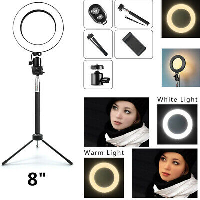 Ring Light LED Studio Photo Video Dimmable Lamp With Tripod Stand Selfie Stick