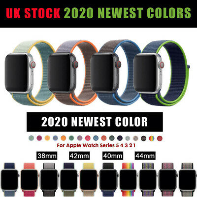 For Apple Watch Band series 5 4 3 21 Nylon Woven Sport Loop Bracelet Watch Strap