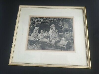 Neyret frered  woven silk picture stevengraph ca 1880 antique french Seidenbild