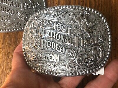 HESSTON Rodeo NFR Rodeo Finals 1991  Belt Buckle sealed