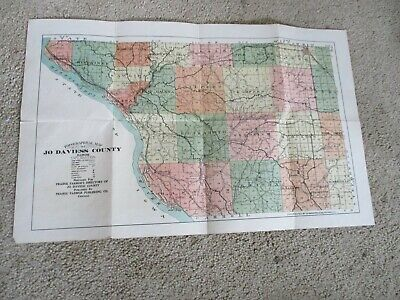 Vintage TOPOGRAPHICAL MAP of JO AVIESS COUNTY ILLINOIS Prairie Farmer