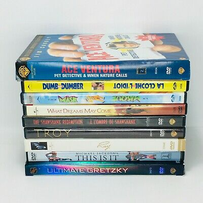 9 DVD Movies: Jim Carrey, Robin Williams, Brad Pitt, Morgan Freeman, Jackson