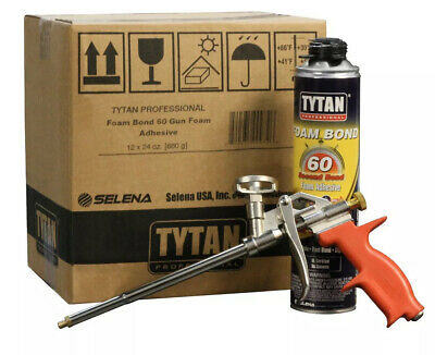 (2) X Pack Of Tytan Professional 60 Pro Second Foam Bond High Yield Adhesive NEW