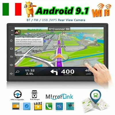 "7"" AUTORADIO 2 Din ANDROID 8.1 TOUCH SCREEN WIFI GPS NAVI MP5 STEREO AUX Stereo"