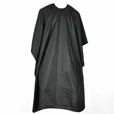 Unisex Black Adults Hairdressing Cape Barbers Gown Cover Cut Cutting Protect