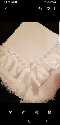 beautiful WHITE baby girls/boys shawl **NEW** for christening or everyday use
