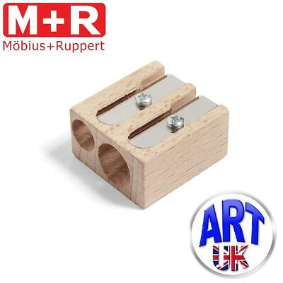 Mobius & Ruppert Professional Artists BEECHWOOD DOUBLE HOLE pencil sharpener