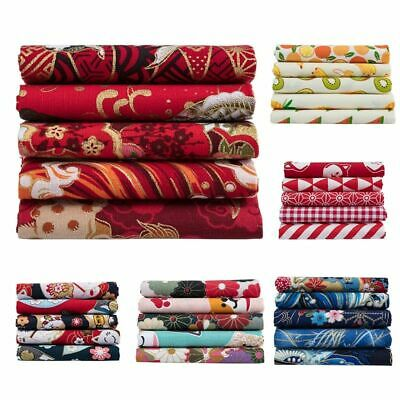 Mixed Pattern Cotton Fabric Sewing Quilting Patchwork Crafts 20X25cm DIY Dolls I