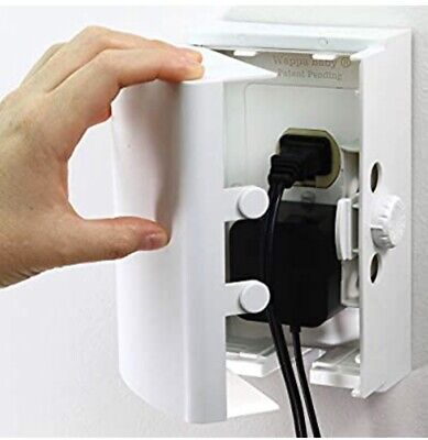 NEW OUTLET COVER BOX Double Locking Cover Box Safe For Kids