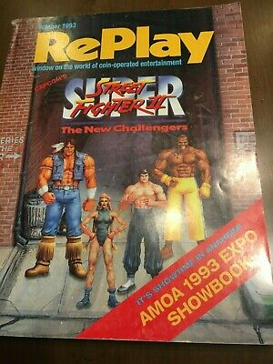 Replay Magazine October 1993 EXPO issue Street Fighter 2 Judge Dredd Teed Off