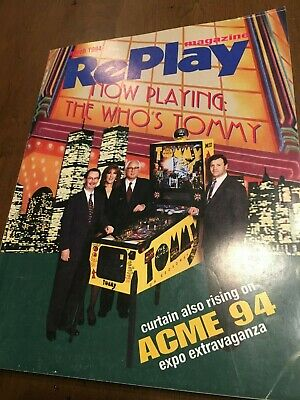 Replay Magazine March 1994 EXPO The Who's TOMMY Pinball Lord of Gun NBA Jam