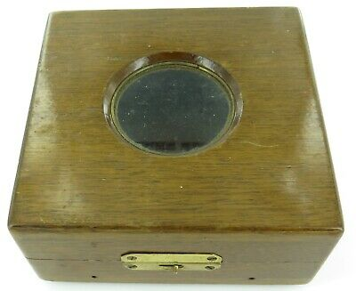 .Incredibly Rare 1911 Douglas Mawson Antarctica Expedition Marine Deck Clock Box