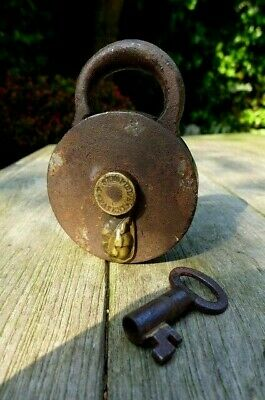 Antique Padlock with one key F.Sengpiel working order Made in Germany 25-02