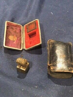 Vintage Chinese Chop Stamp Seal With Original Caarry Case