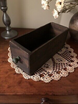 Vintage Antique Old Wooden Drawer with Knob Handle Rack Shelve Primitive Box