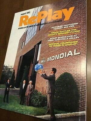 Replay August 1993 Jurassic Park Mystery Castle and Teed Off Pinballs NBA Jam