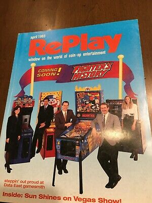 Replay April 1993 Street Fighter 2 Rocky Bullwinkle Dracula Pinball Knuckle Bash