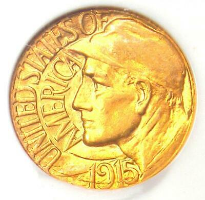 1915-S Panama Pacific Gold Dollar G$1 Pan-Pac - NGC MS62 (BU UNC) - $625 Value!
