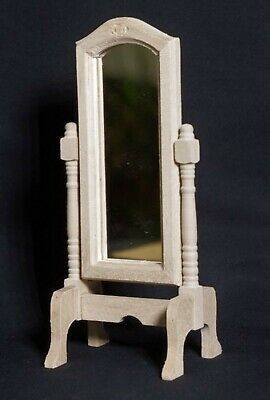 1:12 Scale Wooden Oval Dressing Mirror Tumdee Dolls House Miniature Bedroom