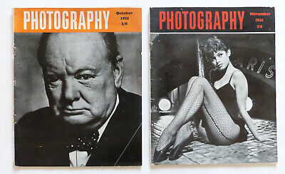 2 X VINTAGE PHOTOGRAPHY MAGAZINES 1955. Please See Pictures.