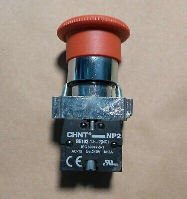 Chint Np2 Be102 240V 3A Emergency Stop Red Push Button