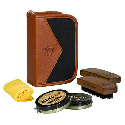 Gentlemen's Hardware On-the-Go Portable Charcoal Shoe Shine Kit Ideal Dad Gift