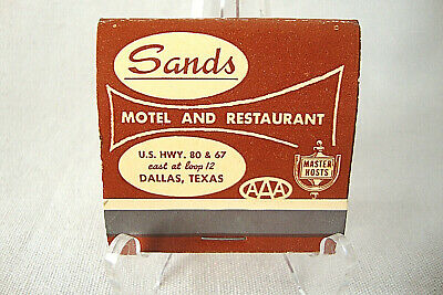 "Vintage Matchbook from ""The Sands"" Las Vegas, Nevada, Green Tip Matches"